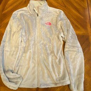 EUC North face fuzzy fleece jacket Sz S